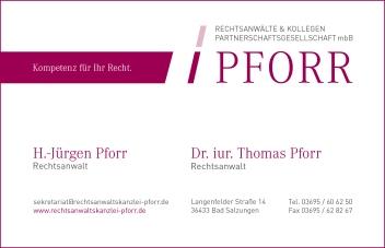 Rechtsanwalt Pforr